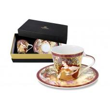 Чашка с блюдцем Осень (А. Муха) в подарочной упаковке 0,225 л