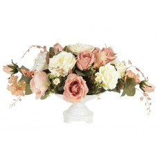 Декоративные цветы Розы и лилии в керамическй вазе