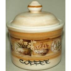 Банка для сыпучих продуктов с деревянной крышкой (кофе)