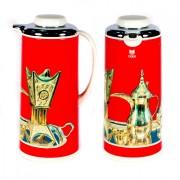 """Термос Tiger1,3 со стеклянной колбой """"Арабские мотивы"""" красный"""