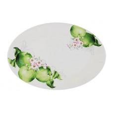"""Блюдо овальное """"Зеленые яблоки"""" 38х26см"""