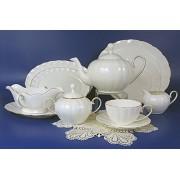 Н 1001011 Магнолия белый сервиз чайный 6/17 (зол.лента)