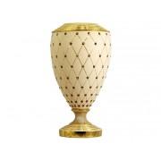Ваза декоративная Murano Cream Gold 37 см