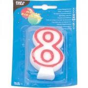Свеча-цифра 8, ко дню рождения