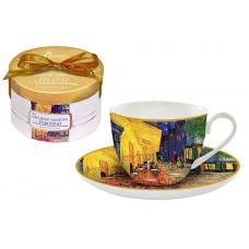 Чашка с блюдцем Ночная терраса кафе (Ван Гог)