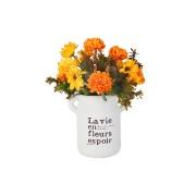 Декоративные цветы Солнечный букет в керамической вазе