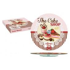 Блюдо стеклянное для торта (вращающееся) Подарки