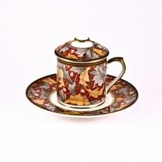 Кофейная чашка с крышкой и с блюдцем