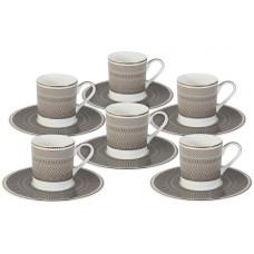 Кофейный набор Мокко: 6 чашек + 6 блюдец