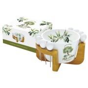 Набор для закуски: салатник для оливок + 8 шпажек на подставке Прованс