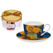 <!--namescript--> Чашка с блюдцем Подсолнухи (Ван Гог)...  <!--namescript-->