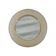 Зеркало настенное круглое Murano Tortora White