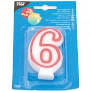 Свеча-цифра 6, ко дню рождения