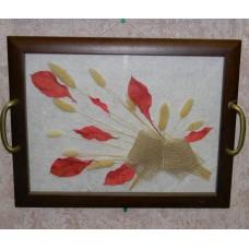 2 в1:Поднос с цветами 24х30 + настенное украшение