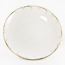 """Блюдо для заливного 32см """"Белый с золотом"""" Narumi"""