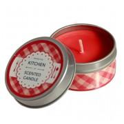 Свеча ароматическая в оловянном подсвечнике, 4 шт, Strawberry