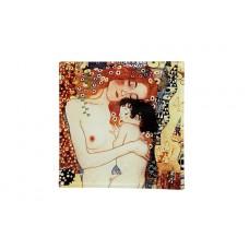 Тарелка квадратная Мать и дитя (Г.Климт)