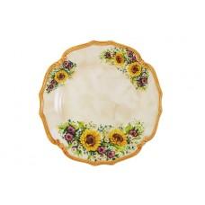 Блюдо круглое Подсолнухи Италии 37 см
