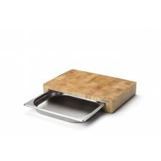 Блок мясника с металлической вставкой-подносом Continenta 39 x 27 x 6 см