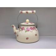 Японский эмалированный чайник на 2,5 литра Императорская роза