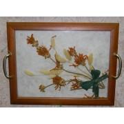 2 в1: Поднос с цветами 30х40,полевой букет-настенное украшение