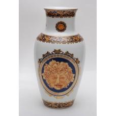 Ваза для цветов Depos Bacco Blu. Фарфор, декор под золото