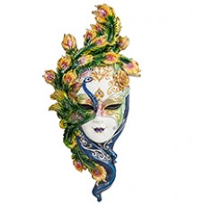 """Венецианская маска """"Павлин""""  34 см"""