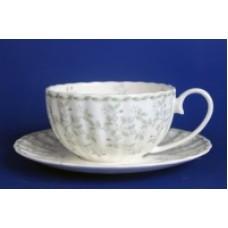 1050011 Джулия ГРИН 3 н-р 370мл чашка чайная с блюдцем 1/2 (зол.лента)