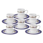Кофейный набор Флагман: 6 чашек + 6 блюдец
