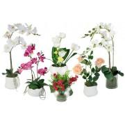 Декоративные цветы из керамики и фарфора