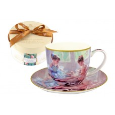 Чашка с блюдцем Балерины у окна