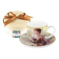 Чашка с блюдцем Дама с собачкой