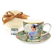 <!--namescript--> Чашка с блюдцем Ирисы (Ван Гог)...  <!--namescript-->