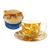 <!--namescript--> Чашка с блюдцем Осень (А. Муха) в подаро...  <!--namescript-->