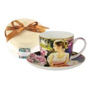 <!--namescript--> Чашка с блюдцем Девочки на лугу...  <!--namescript-->