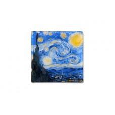 Тарелка квадратная Звездная ночь (Ван Гог) 13х13 см