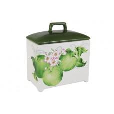 """Банка для сыпучих продуктов 18 см """"Зеленые яблоки"""""""