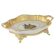 Ваза декоративная на ножках Свидание, матовое золото