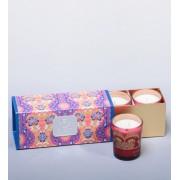 """Н-р из 3 свечей аром. """"Франжипан и лепестки роз"""" в под. кор."""